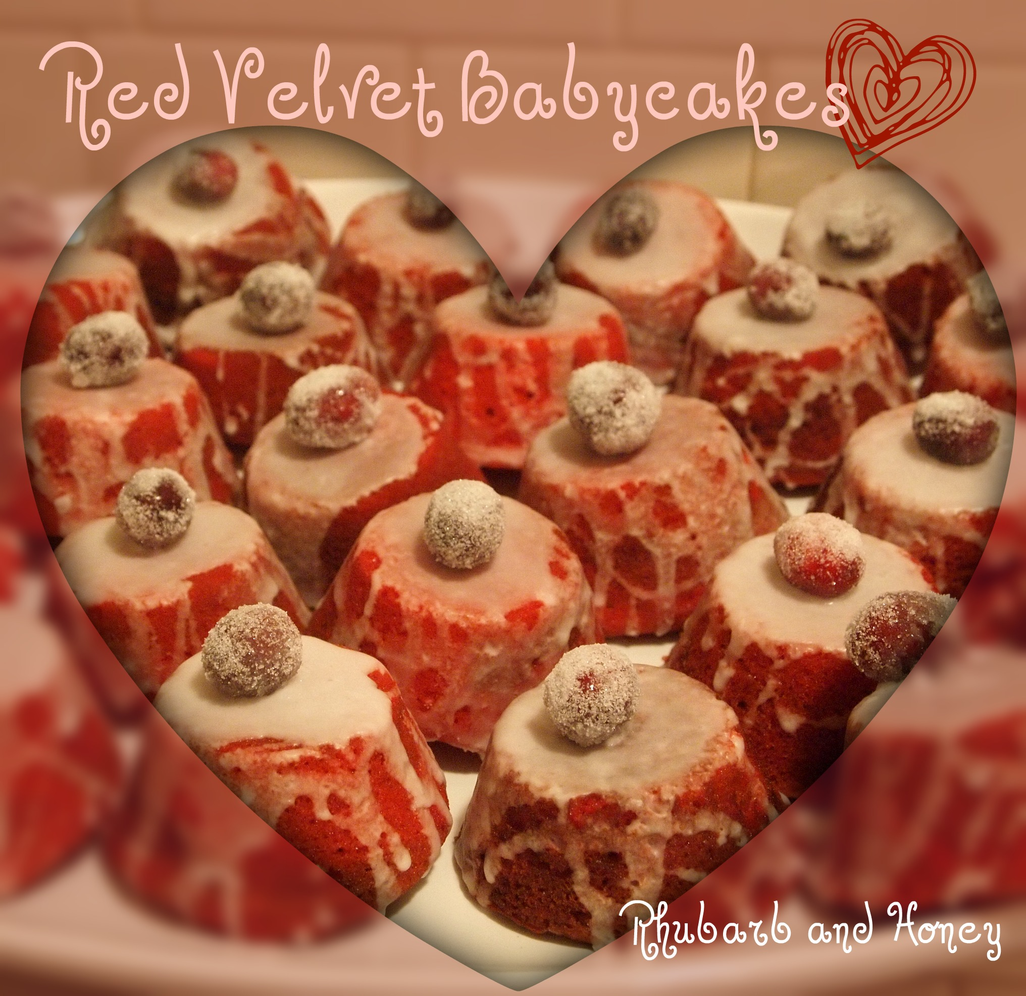 Red Velvet Babycakes with Winter White Glaze