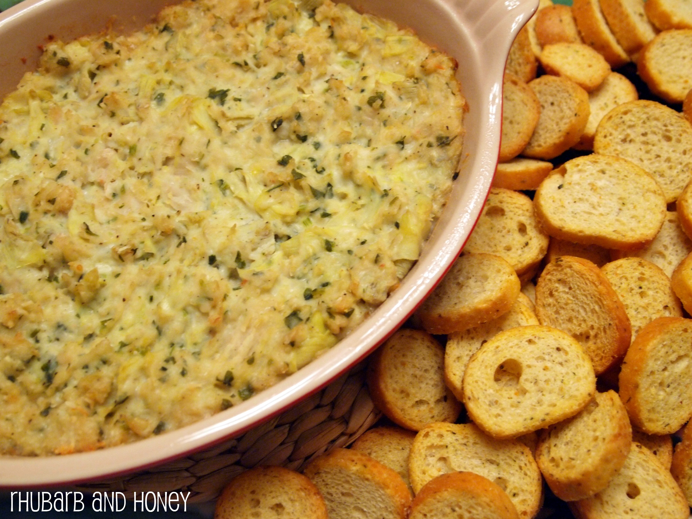Baked Artichoke and Cannellini Bean Dip