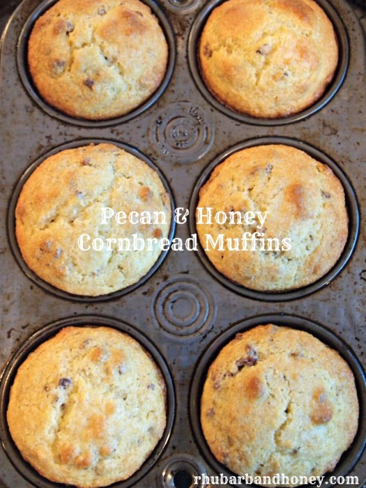 Pecan & Honey Cornbread Muffins