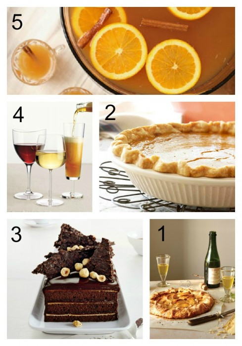 Thanksgiving Desserts and Drinks