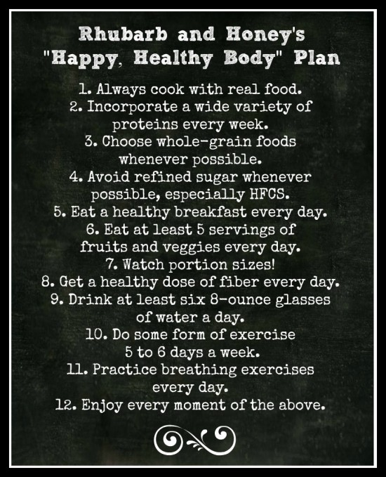 Happy Healthy Body Plan