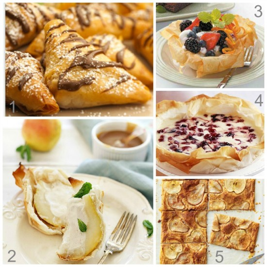 Sweet Phyllo Recipes
