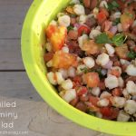 Chilled Hominy Salad by Rhubarb and Honey