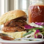 Coffee-Crusted Pulled Pork with Coffee Barbecue Sauce and