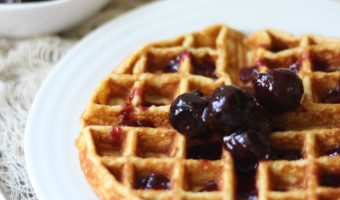 Sorghum, Honey, & Cornmeal Waffles with Two-Ingredient Homemade Syrup: A Guest Post for Eating Rules
