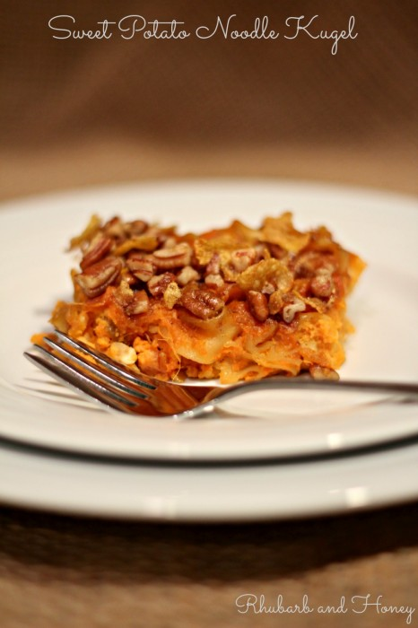 Slice of Sweet Potato Noodle Kugel