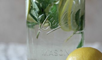 "Lemon and Mint ""Detox"" Water"