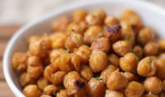 Lime and Coconut Roasted Chickpeas