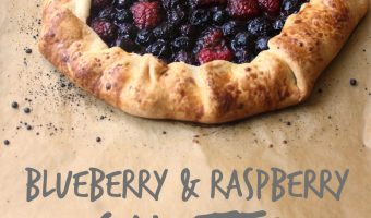 Blueberry and Raspberry Galette #SundaySupper