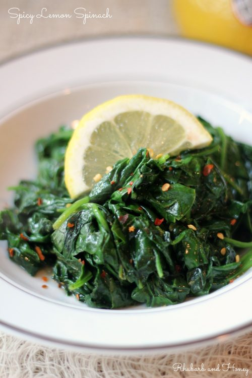 Spicy Lemon Spinach