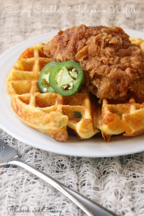 Savory Cheddar and Jalapeno Waffles