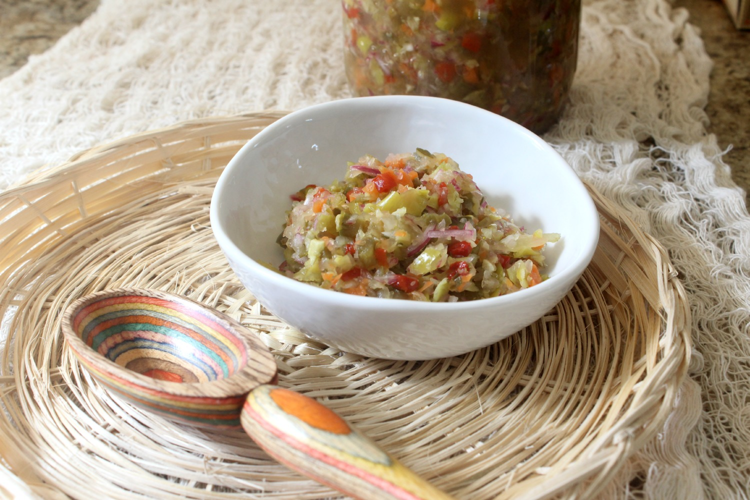 Spicy Pickle Relish #RecipeReDux