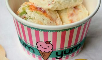 No-Churn Chopped Macaron Vanilla Bean Ice Cream #FoodieExtravaganza