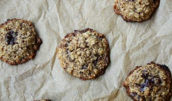 Flourless Dark Chocolate Espresso Oatmeal Cookies #CreativeCookieExchange