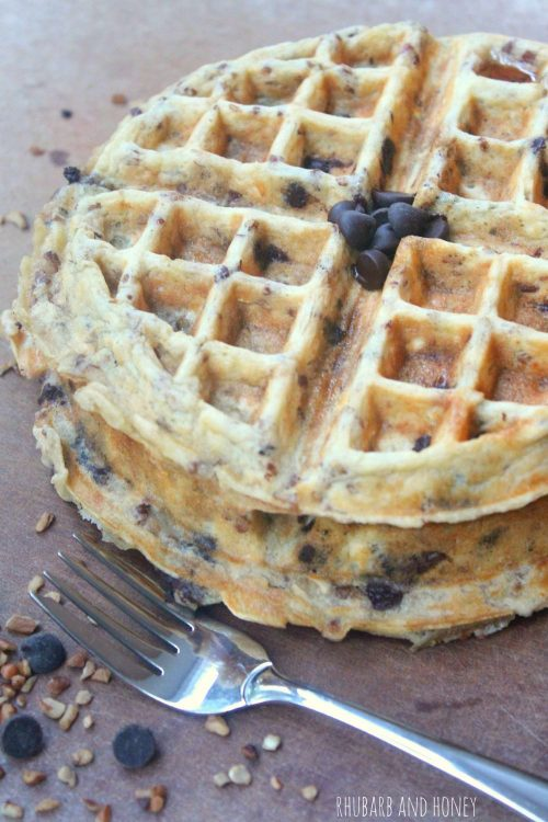 Gluten-Free, Dairy-Free Chocolate Pecan Waffles  {Rhubarb and Honey} #WaffleWeek2015