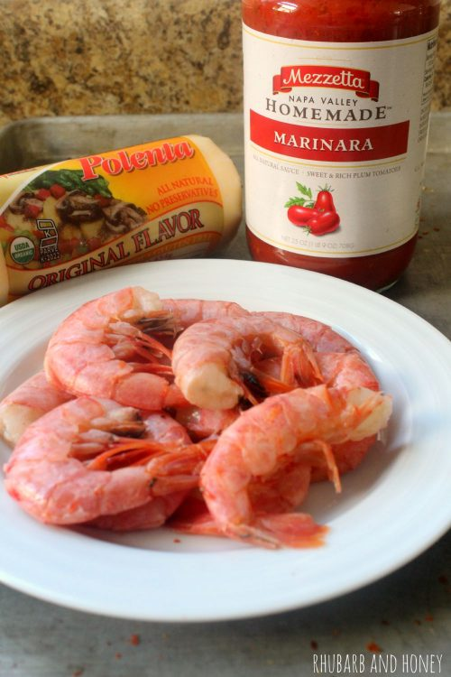 Spicy Italian Shrimp and Polenta for Two #FallForFlavor