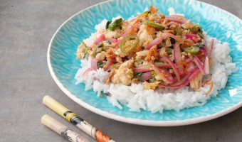 Larb Gai (Spicy Thai Chicken Salad) #SundaySupper