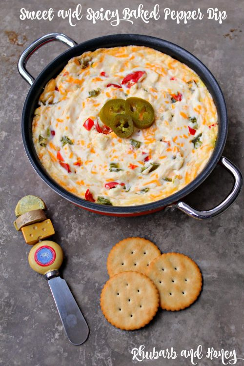 Sweet and Spicy Baked Pepper Dip (Rhubarb and Honey}
