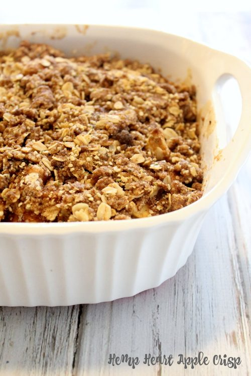 Hemp Heart Apple Crisp {Rhubarb and Honey} #FreshTastyValentines