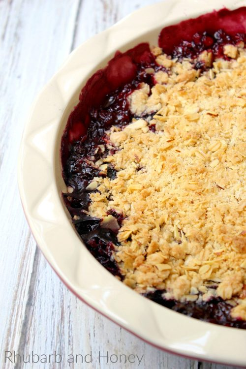 Gluten-Free Mixed Berry Crisp {Rhubarb and Honey}